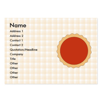 Red Pie. Strawberry Tart. Beige Check. Pack Of Chubby Business Cards