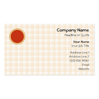 Red Pie. Strawberry Tart. Beige Check. Pack Of Standard Business Cards