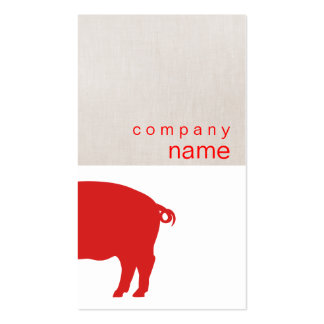 Red Pig Business Card