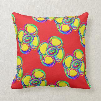 red pillow flower