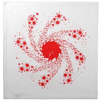 Red Pin Wheel Napkin