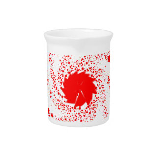 Red Pin Wheel Pitcher