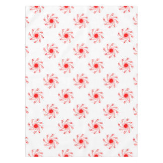 Red Pin Wheel Tablecloth