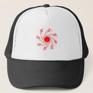 Red Pin Wheel Trucker Hat