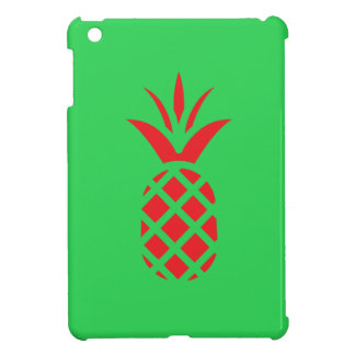 Red Pine apple in  Green Case For The iPad Mini