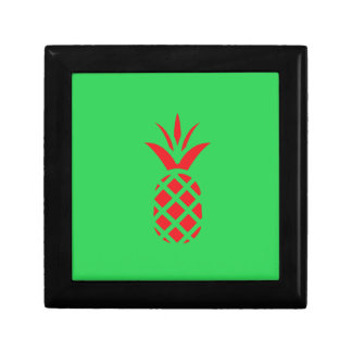 Red Pine apple in  Green Gift Box