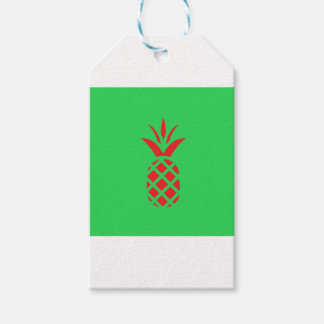 Red Pine apple in  Green Gift Tags