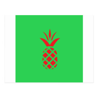 Red Pine apple in  Green Postcard