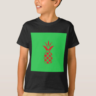 Red Pine apple in  Green T-Shirt