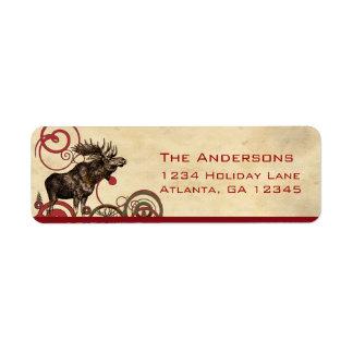 Red Pine Moose Trees Return Address Return Address Label