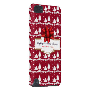 Red Pine Trees Holly and Snow iPod Touch (5th Generation) Case