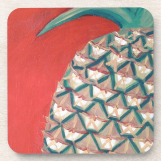 Red Pineapple Beverage Coaster