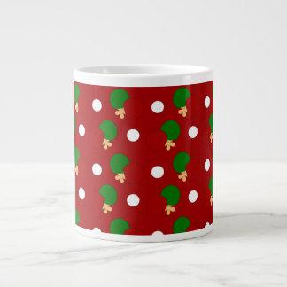 Red ping pong pattern jumbo mug