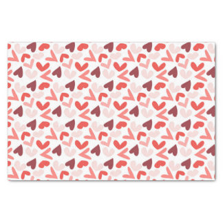 Red, Pink, and Purple Hearts Valentine Pattern Tissue Paper