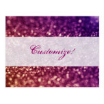 Red Pink and Purple Sparkle Diva Glitter Design Post Card