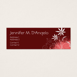 Red, Pink and White Flowers Mini Business Card