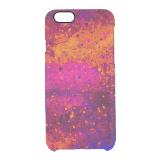 Red Pink Blue Paint Splatter Texture Pattern Clear iPhone 6/6S Case