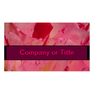 Red Pink Camellia Flower Business Card