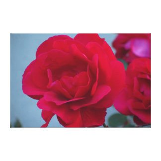 Red Pink Flower Gallery Wrap Canvas