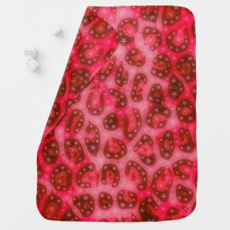 Red Pink Glowing Cheetah Baby Blanket