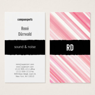red pink graphical professional business card