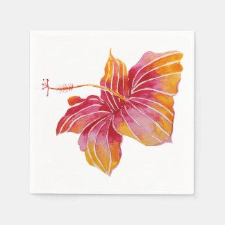 Red & Pink Hawaiian Hibiscus Flower Paper Napkins Paper Napkin