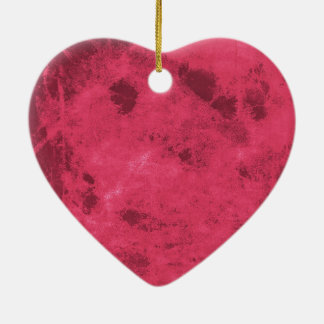 Red pink love inspired grunge abstract design art ceramic heart decoration