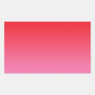 Red & Pink Ombre Rectangular Sticker