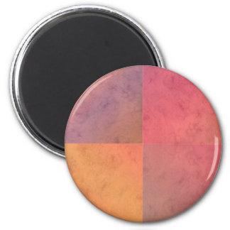 Red Pink Orange Yellow Geometric Watercolor Art Refrigerator Magnet