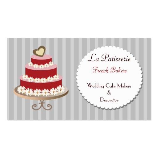 wedding cake business cards pink wedding cake makers business cards zazzle 22132