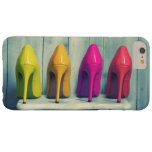 Red Pink Yellow Green Heels Photo Girly Barely There iPhone 6 Plus Case