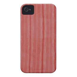Red Pinstripe Blackberry Bold Barely There iPhone 4 Case-Mate Case