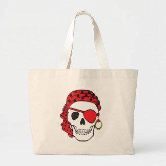 Red Pirate Skull Bag
