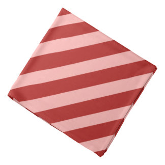 Red Pirate Stripes Bandana