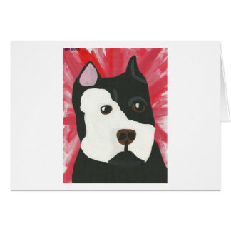 Red Pit Bull Card