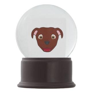 Red Pitbull Snow Globes