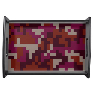 Red Pixel Camouflage pattern Serving Tray