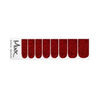 Red Pixel Diamond Nail Art