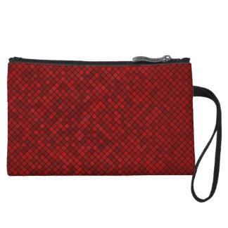 Red Pixel Pattern Mini Clutch