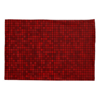 Red Pixel Pattern Pillowcase