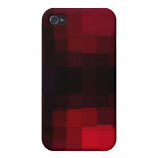 Red Pixelated Covers For iPhone 4