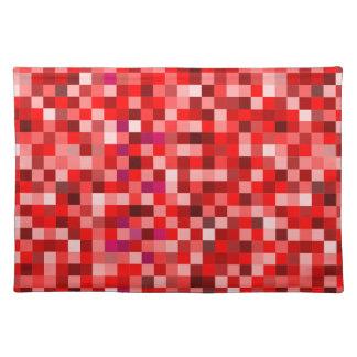 Red pixels placemat