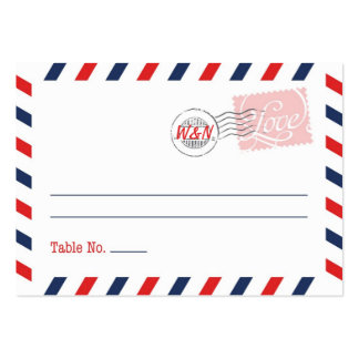 Red Place Card Postal Service Collection Pack Of Chubby Business Cards