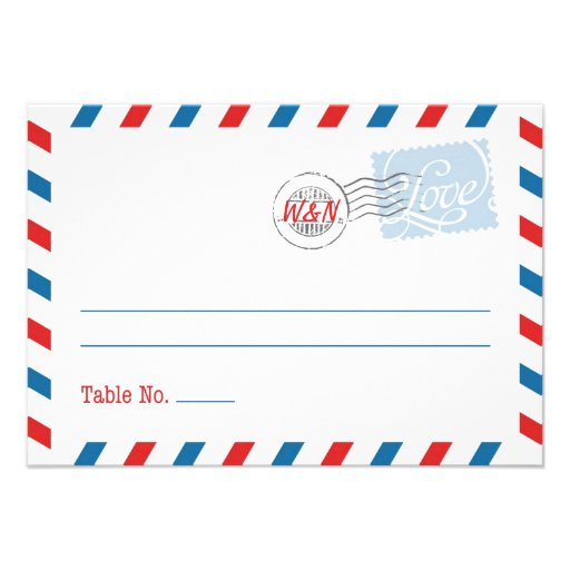 Red Place Card Postal Service Collection