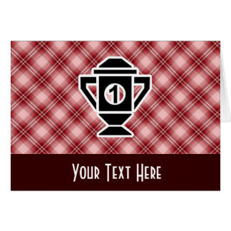 Red Plaid 1st Place Trophy Card