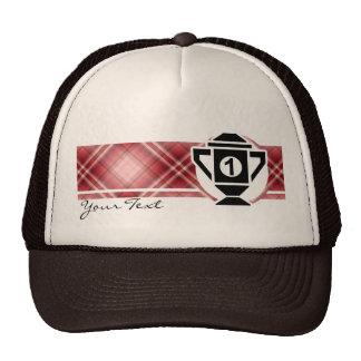Red Plaid 1st Place Trophy Hat
