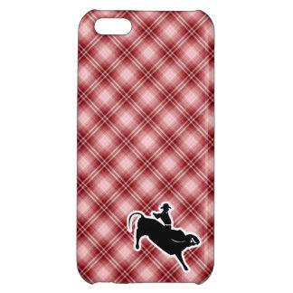 Red Plaid Bull Rider Cover For iPhone 5C