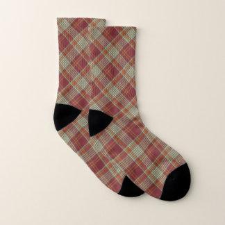 Red Plaid Christmas Socks 1