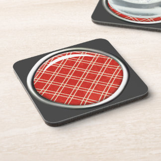 Red Plaid Cork Coaster