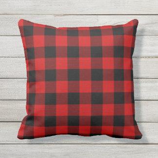 Red Plaid Cushion